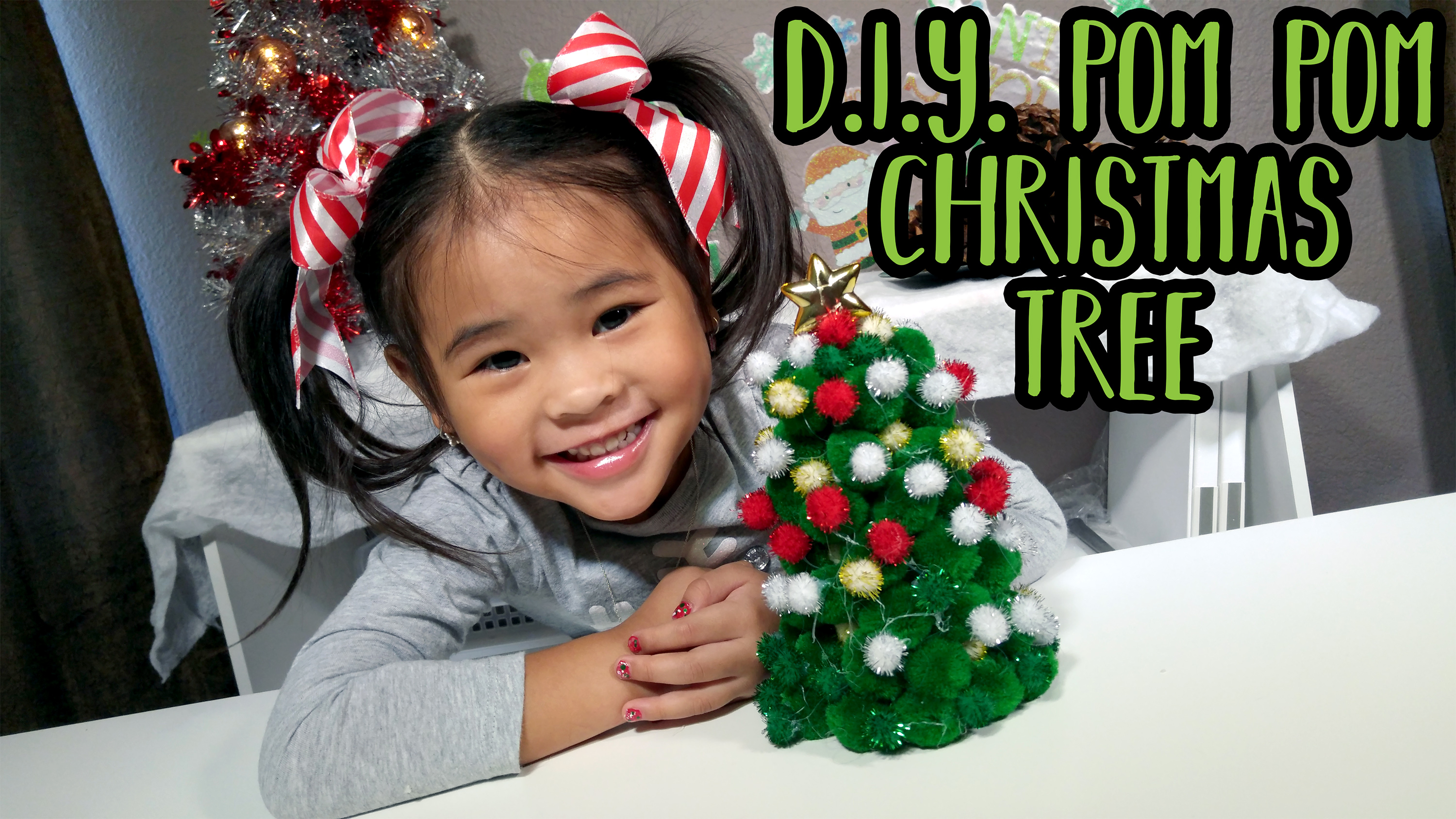 How to make a Pom Pom Christmas Tree Tutorial