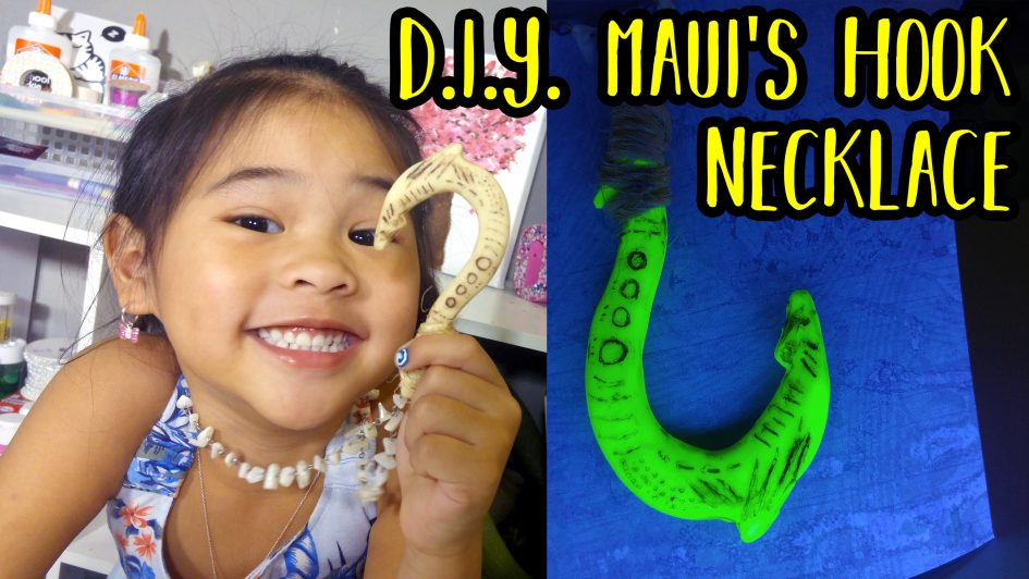DIY Glowing Maui's Hook from Moana