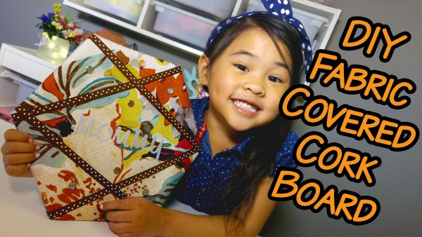 DIY Fabric Covered Bulletin Board Tutorial