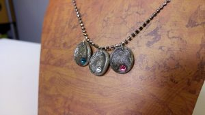 Great Handmade Fingerprint Necklace Perfect Gift Idea for Mother's Day