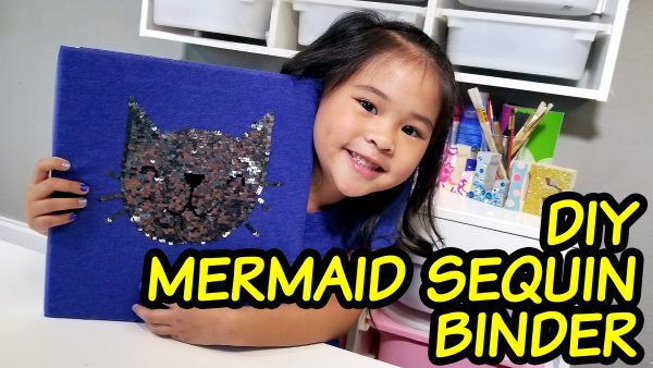 Reversible Sequin Book or Binder Cover Tutorial