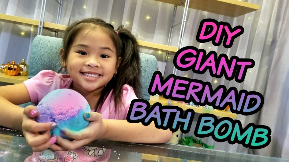 Easy Jumbo Mermaid Bath Bomb Tutorial