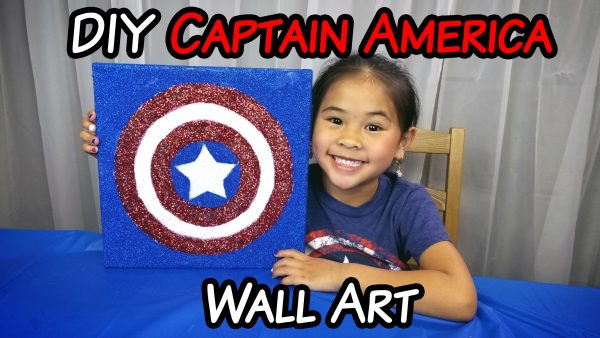 DIY Glow-in-the-Dark Captain America Shield Decor