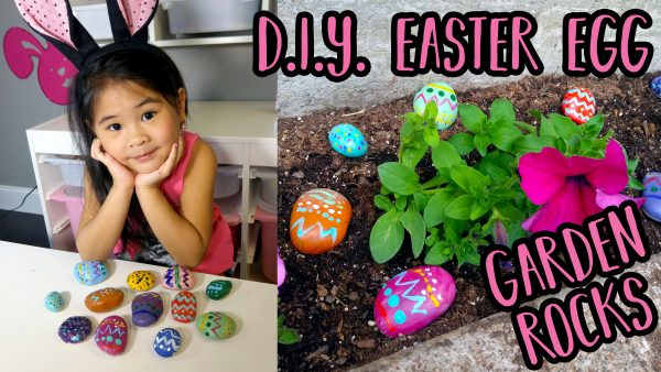 DIY Easter Themed Painted Garden Rocks