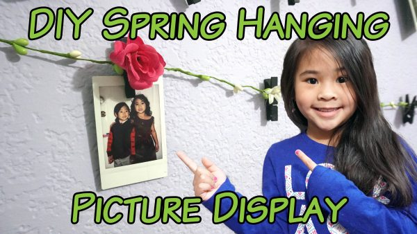 Spring DIY Hanging Photo Gallery